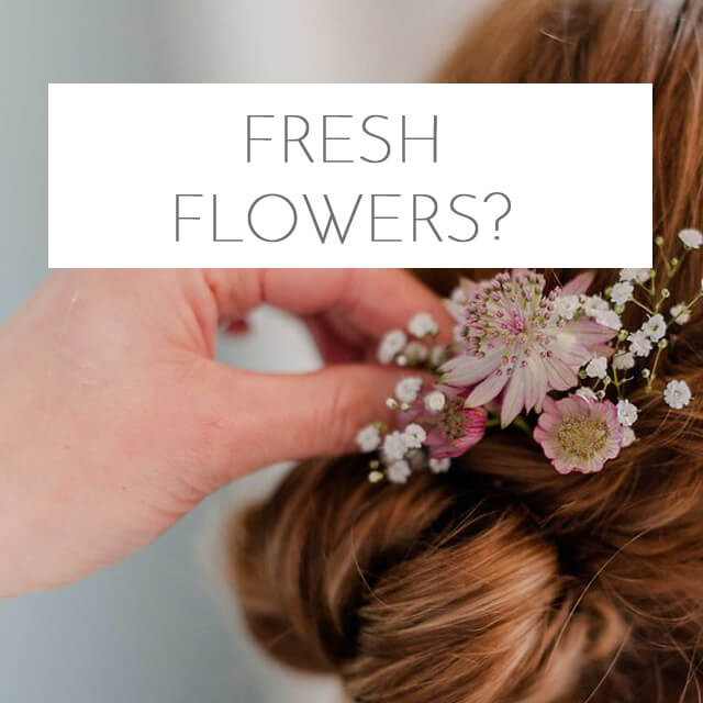 Update: Tips for flowers as hair accessories